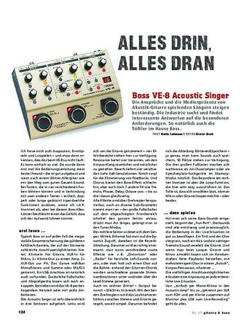 Gitarre & Bass Boss VE-8 Acoustic Singer