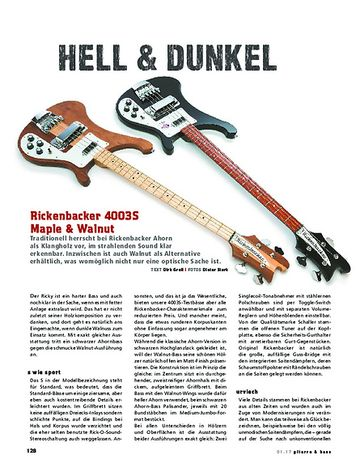 Gitarre & Bass Rickenbacker 4003S Maple & Walnut