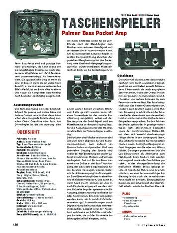 Gitarre & Bass Palmer Bass Pocket Amp