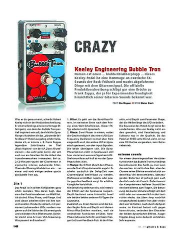 Gitarre & Bass Keeley Engineering Bubble Tron