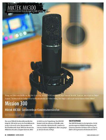 Sound & Recording Miktek MK300 - Großmembran-Kondensatormikrofon