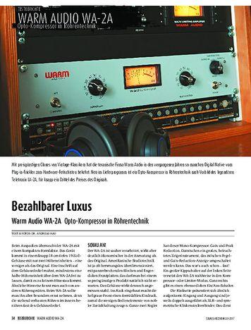 Sound & Recording Warm Audio WA-2A - Opto-Kompressor in Röhrentechnik