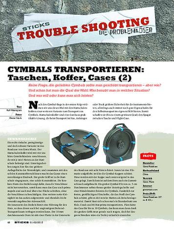 Sticks CYMBALS TRANSPORTIEREN: Taschen, Koffer, Flightcases (2)