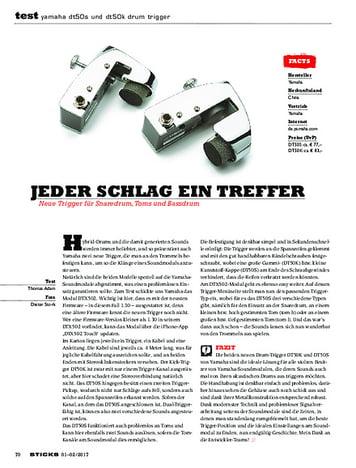 Sticks Yamaha DT50S und DT50K Drum Trigger