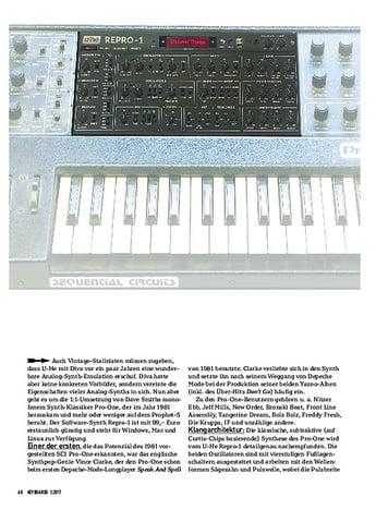 Keyboards U-HE REPRO-1 - SOFTWARE-SYNTHESIZER