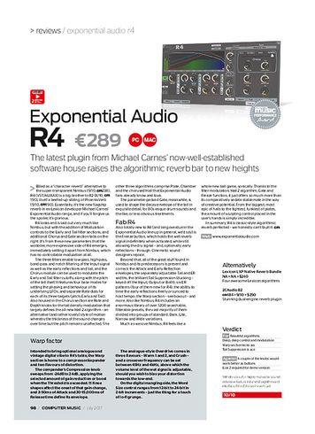 Computer Music Exponential Audio R4