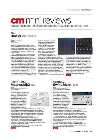 Computer Music ROLI Blocks
