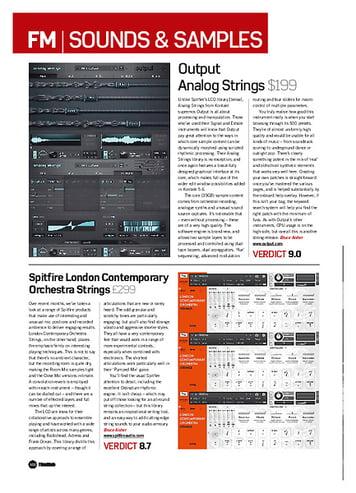Future Music Output Analog Strings