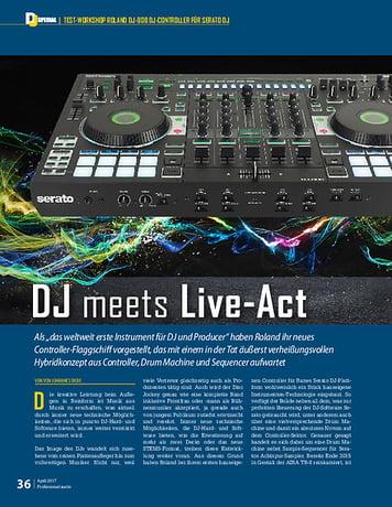 Professional Audio Dj meets Live-Act: Roland DJ-808