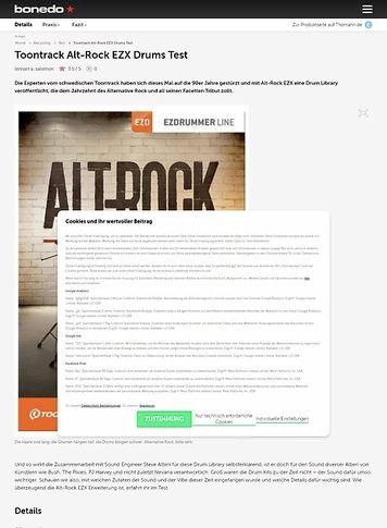 Bonedo.de Toontrack Alt-Rock EZX Drums Test