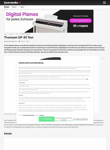 Bonedo.de Thomann DP-95
