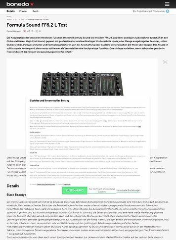 Bonedo.de Formula Sound FF6.2 L