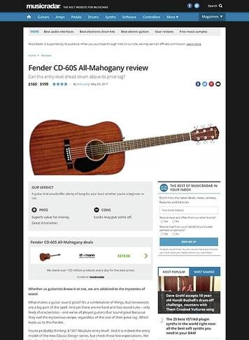 MusicRadar.com Fender CD-60S All-Mahogany