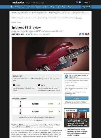 MusicRadar.com Epiphone EB-3