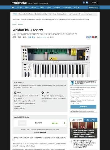 MusicRadar.com Waldorf kb37