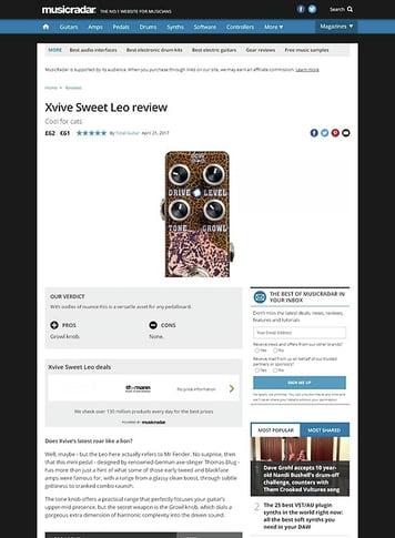 MusicRadar.com Xvive Sweet Leo