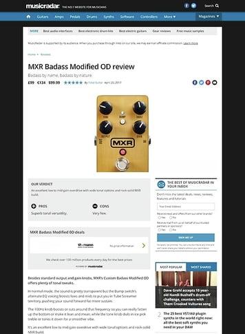 MusicRadar.com MXR Badass Modified OD