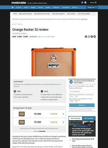 MusicRadar.com Orange Rocker 32