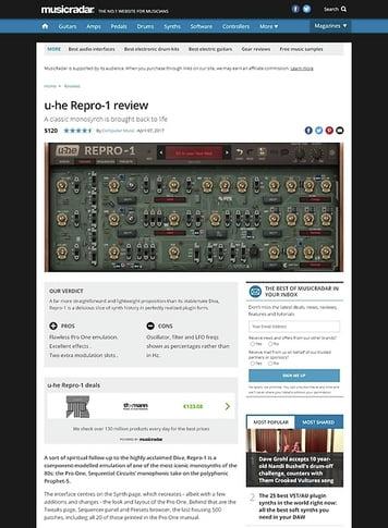 MusicRadar.com u-he Repro-1
