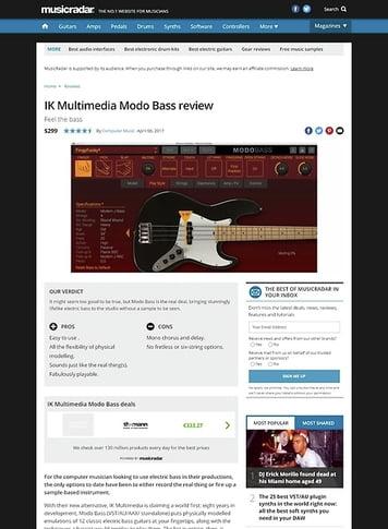 MusicRadar.com IK Multimedia Modo Bass