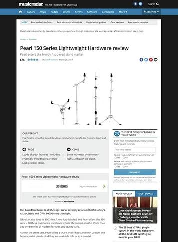 MusicRadar.com Pearl 150 Series Lightweight Hardware