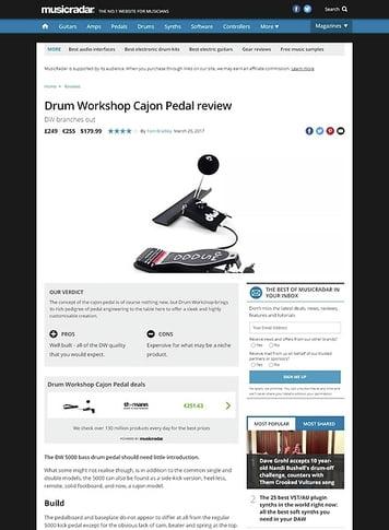 MusicRadar.com Drum Workshop Cajon Pedal