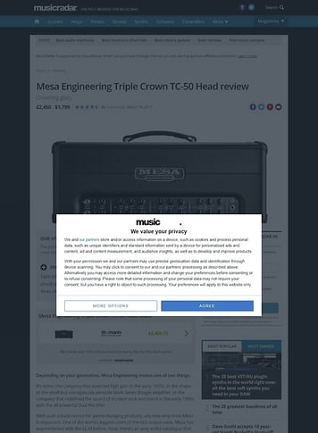 MusicRadar.com Mesa Engineering Triple Crown TC-50 Head