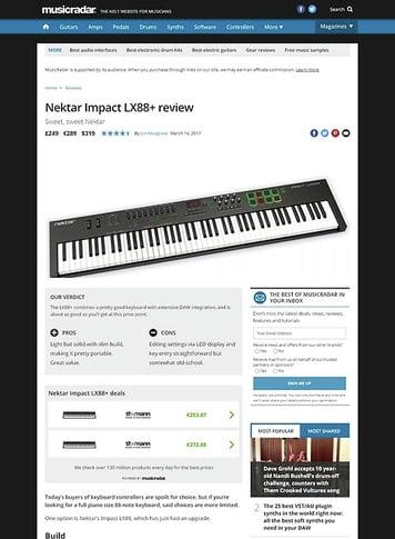 MusicRadar.com Nektar Impact LX88+