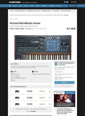 MusicRadar.com Arturia MatrixBrute