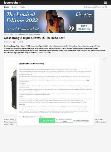 Bonedo.de Mesa Boogie Triple Crown TC-50 Head
