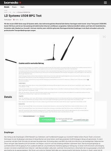 Bonedo.de LD Systems U508 BPG