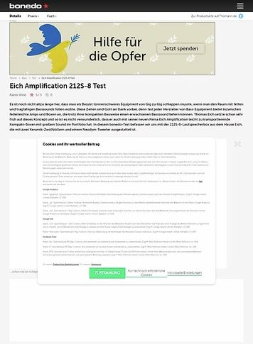 Bonedo.de Eich Amplification 212S-8