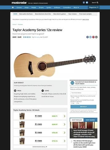 MusicRadar.com Taylor Academy Series 12e