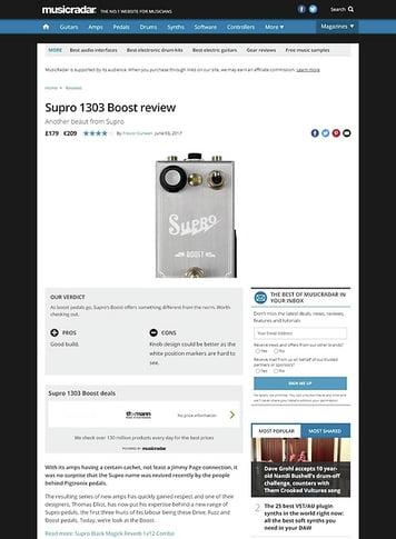 MusicRadar.com Supro 1303 Boost