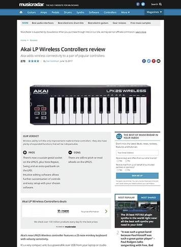 MusicRadar.com Akai LP Wireless Controllers