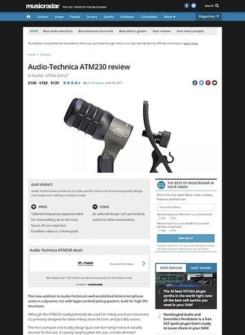 MusicRadar.com Audio-Technica ATM230