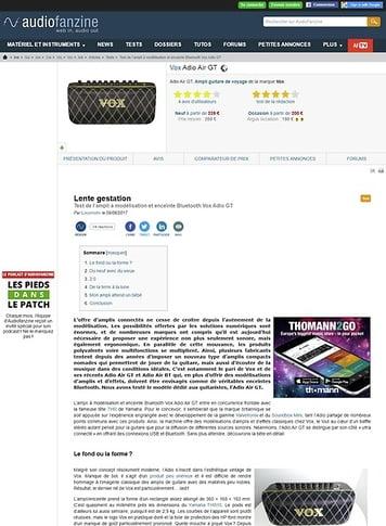 Audiofanzine.com Vox Adio Air GT