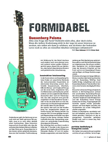 Gitarre & Bass Duesenberg Paloma