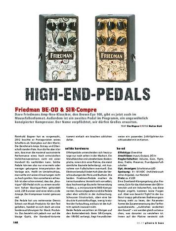 Gitarre & Bass Friedman BE-OD + SIR-Compre