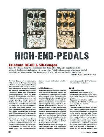 Gitarre & Bass Friedman BE-OD + SIR-Compre