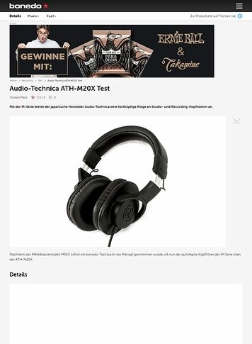 Bonedo.de Audio-Technica ATH-M20X