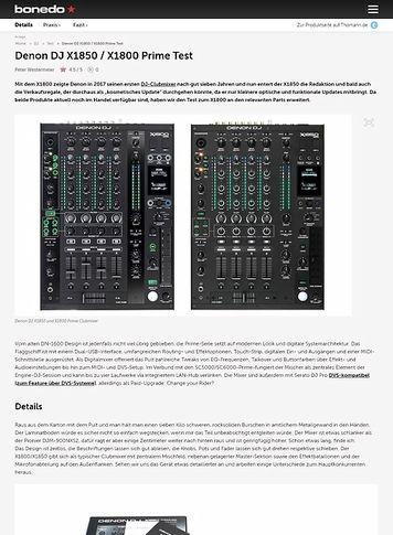Bonedo.de Denon DJ X1800 Prime