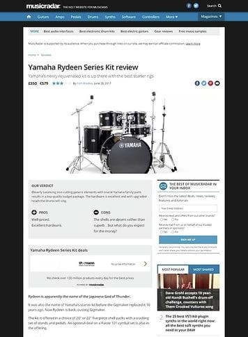 MusicRadar.com Yamaha Rydeen Series Kit