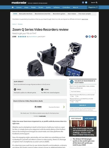 MusicRadar.com Zoom Q Series Video Recorders
