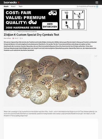 Bonedo.de Zildjian K Custom Special Dry Cymbals