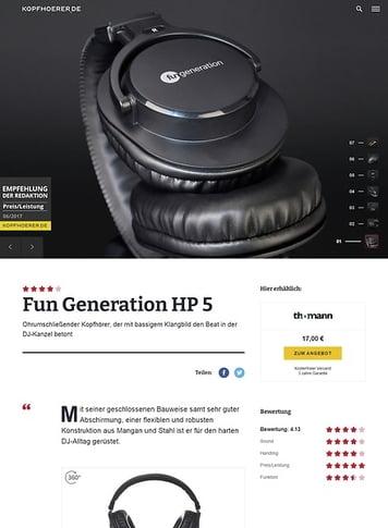 Kopfhoerer.de Fun Generation HP 5