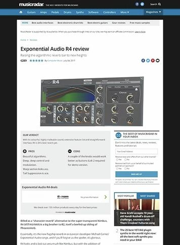 MusicRadar.com Exponential Audio R4