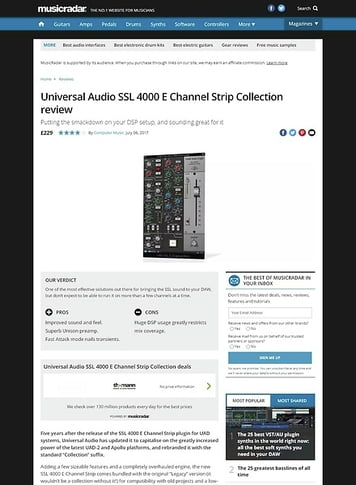 MusicRadar.com Universal Audio SSL 4000 E Channel Strip Collection