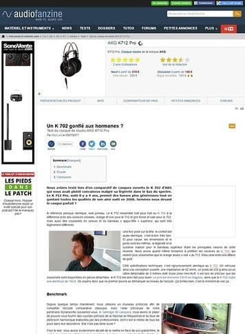 Audiofanzine.com AKG K712 Pro