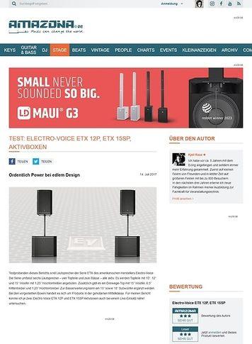 Amazona.de  Electro-Voice ETX 12P und ETX 15SP